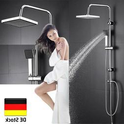 Duscharmatur Brauseset mit Duschkopf und Handbrause Höhenve