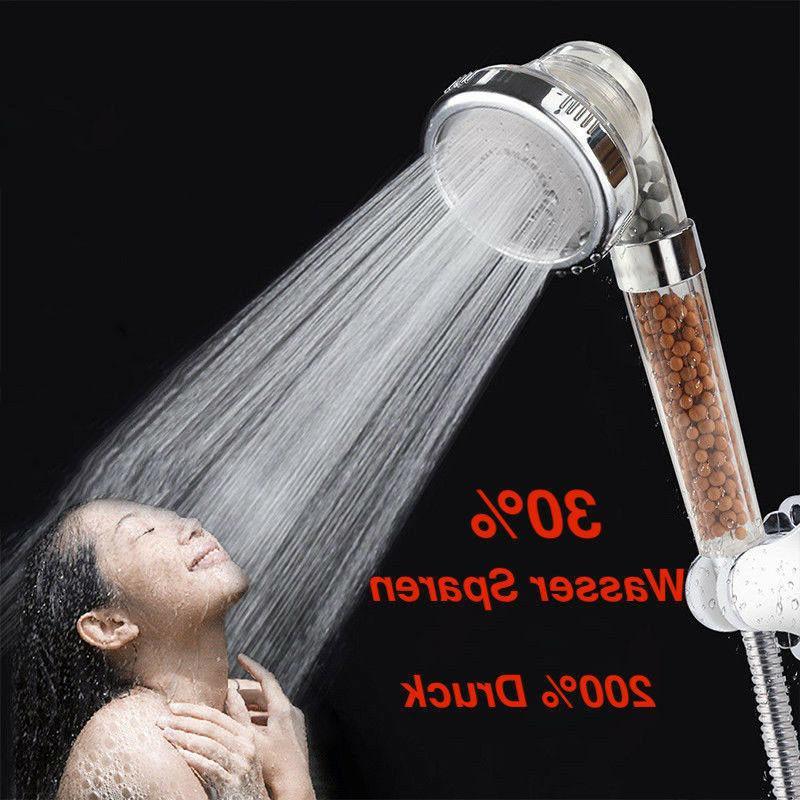 handbrause druck wasserspar duschkopf lonic filtration dusch