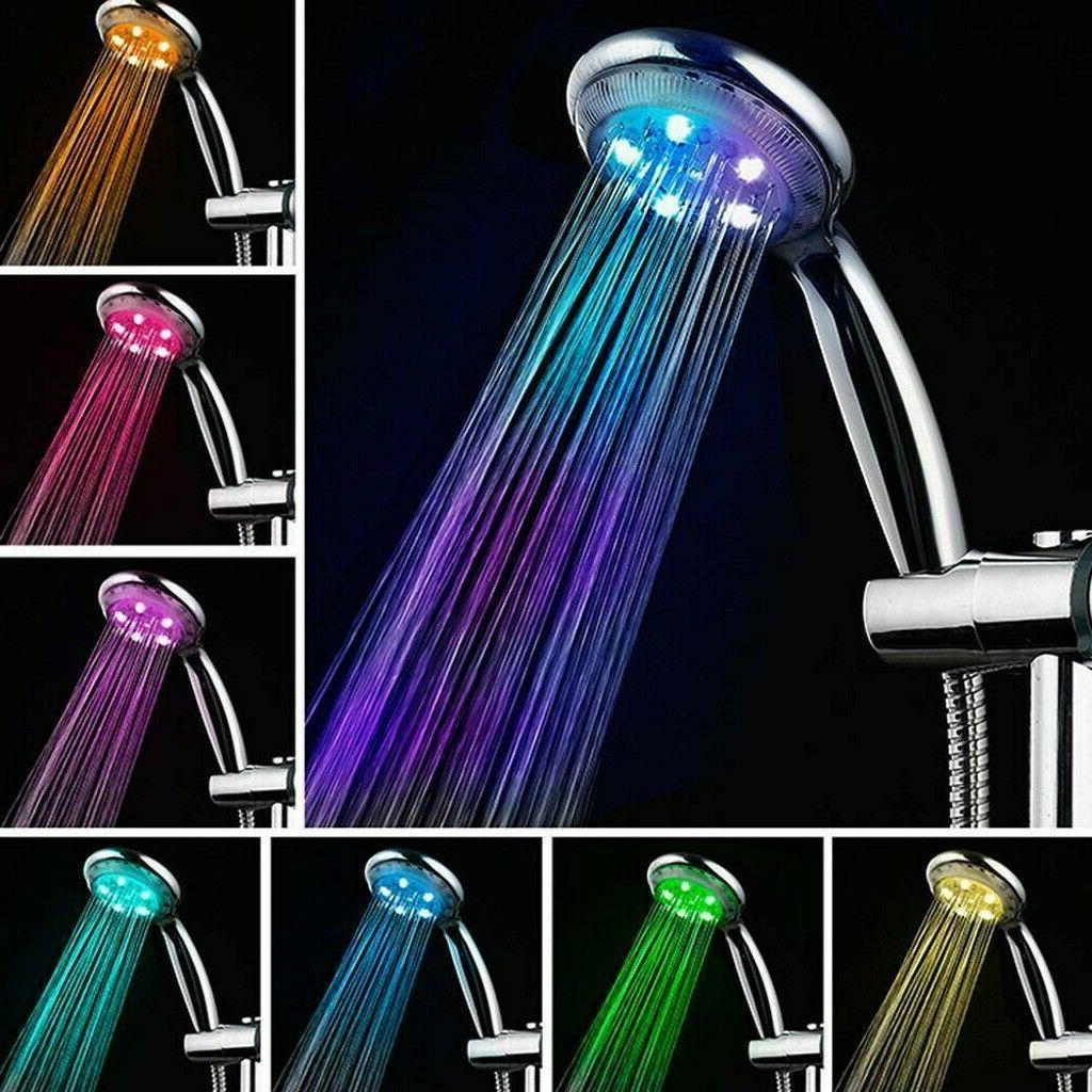 led duschkopf duschbrause brausekopf automatic 7 farbe