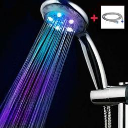 LED Duschkopf Duschbrause Brausekopf Automatic 7 Farbe Licht