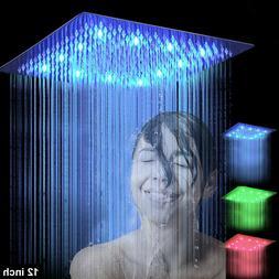 LED Regendusche Duschkopf Platz Brausekopf Armatur Groß Kop